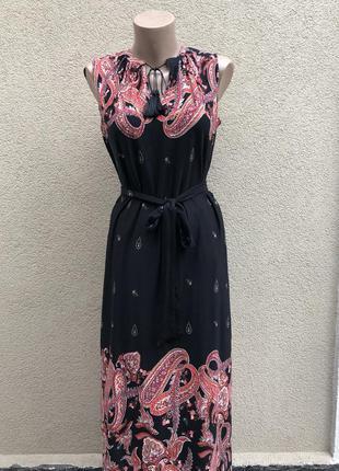 Платье,сарафан в этно принт,вискоза,бохо деревенский стиль,