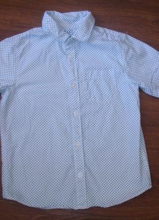 Фирменная крутая нарядная рубашка мальчику 7-8 лет