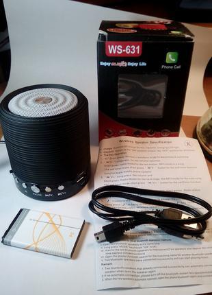 Портативная колонка Ws-631 с Bluetooth