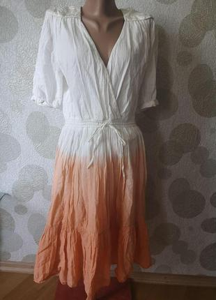 Летнее легкое платье миди