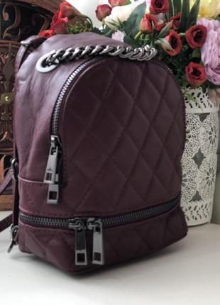 Кожаный рюкзак сумка кроссбоди италия