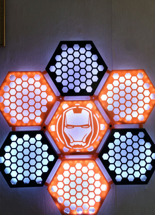 """Модульный настенный  светильник (ночник) """"Сота"""" авторский"""
