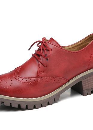 Туфли женские кожаные (осень/весна)