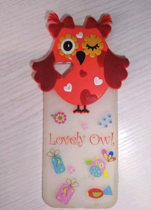 Накладка бампер на Iphone 6/6s Сова
