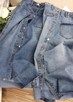Женская джинсовая юбка миди