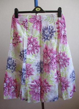 Sale! нежная юбка с вышивкой в цветочный принт classic