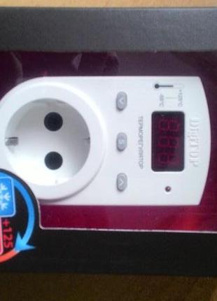 розеточный терморегулятор на 3,5 кВт для обогревателей и инкубато