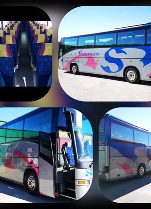 Пассажирские перевозки по Запорожью и Украине Scania 55 мест