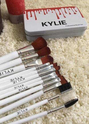 Набор профессиональных кистей для макияжа kylie 10 штук