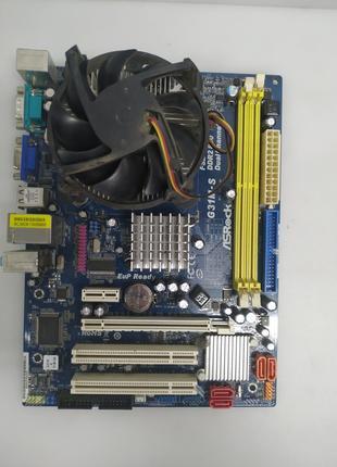 Материнская плата ASRock G31M-S R2.0 (Socket 775, MicroATX, Intel