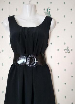 Woolrich чёрное шёлковое платье без рукавов р м