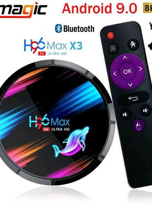ТВ приставка, смарт бокс Android, TV box, H96 Max X3, X96 Max+