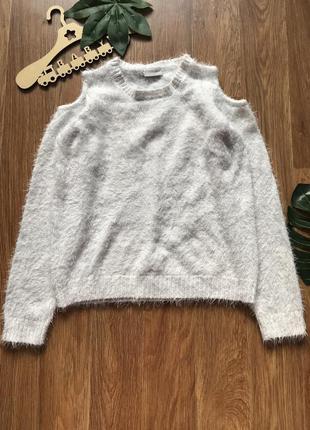 Стильная кофта свитер травка с оголенными плечами matalan 12лет