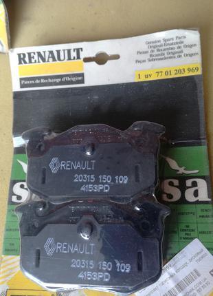 7701203969 Renault Safrane 21 Laguna Гальмівні колодки зад Оригі