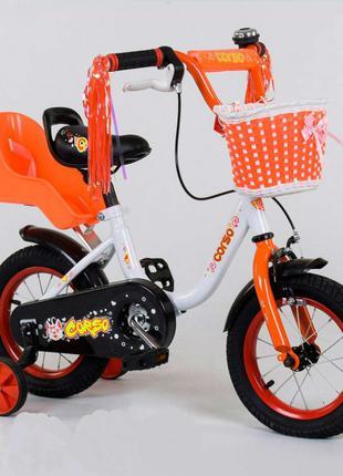 Велосипед CORSO двухколесный с корзинкой SKL11-179199