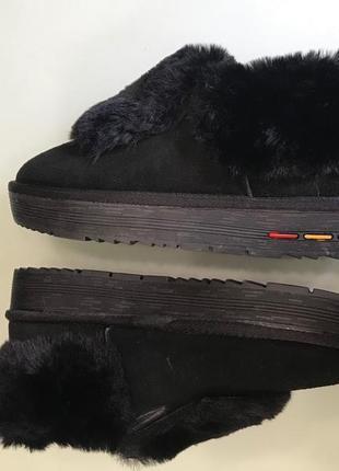 Зимние ботинки из замши с мехом