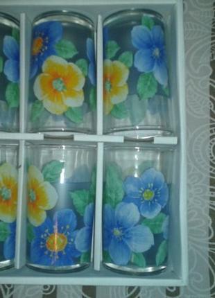 Набор фирменых высоких стаканов Paloma, 238 мл. 6 штук