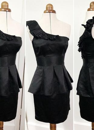 Spotlight by warehouse  платье с баской на одно плечо