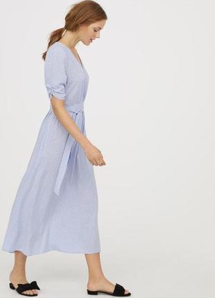 Платье в горошек h&m everyday fashion вискоза