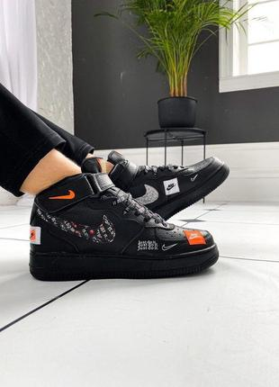 💥nike air force 1 high just do it pack black💥