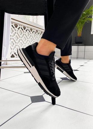 "Кроссовки мужские adidas zx 500 rm ""black/ white""  💥новинка💥"