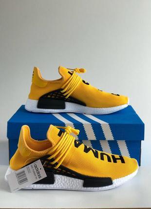 Кроссовки adidas nmd pharrell williams human race yellow