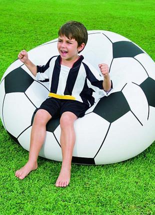 Надувное кресло Футбольный мяч Beanless Soccer Ball Chair 114х112