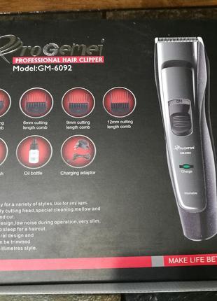 Машинка для стрижки волос GEMEI GM-6092