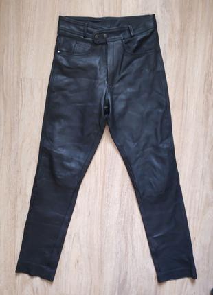 Мотоштаны кожаные байкерские штаны Genuine Leather (Made in Italy