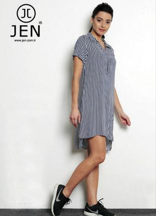 Платье туника, прогулочное jen.фабричная турция