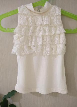 Нарядная блуза для девочки 18-24месяцев