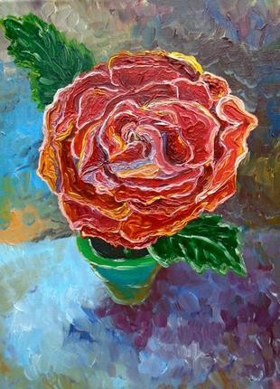 """Картина маслом """"Троянда сну"""", 2017 рік"""