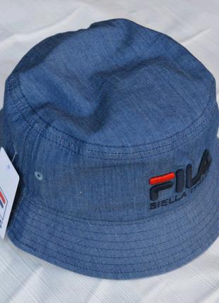 Панама Fila цвета джинс из хлопка
