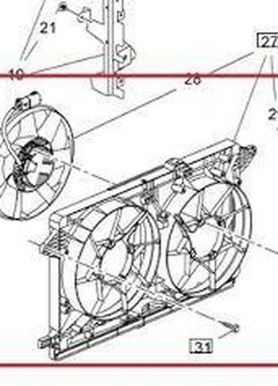 Диффузор кожух радиатора в сборе с вентиляторами Chevrolet Volt 1