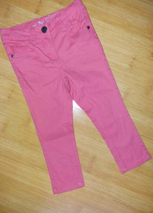 Стильные коттоновые джинсы скинни 1-2 года