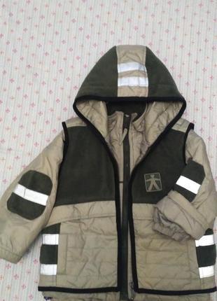Куртка с жилетом на три сезона