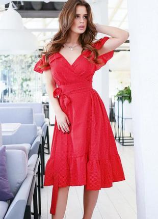 698.   красное платье в горошек