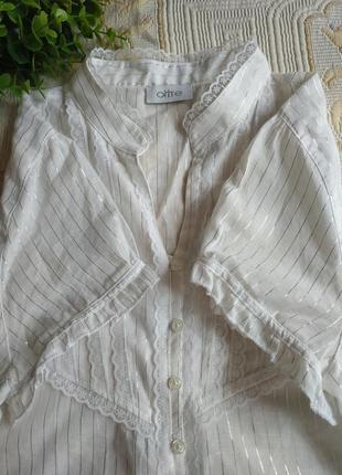 Натуральная невесомая белая блуза