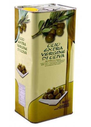 Итальянское оливковое масло холодного отжима, 5л.