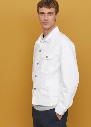 Белая джинсовая куртка h&m !