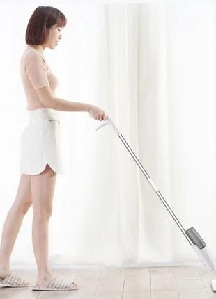 Умная швабра полотер с платформой Xiaomi Deerma Spray Mop TB500 с