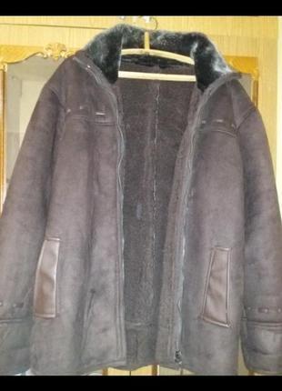 Замшевое пальто мужское