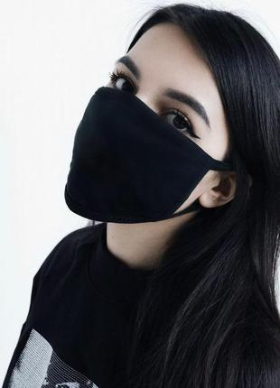 Многоразовая защитная маска чёрная