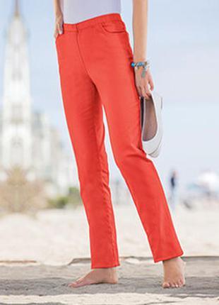Хлопковые стрейчевые брюки damart 18--54 размер.
