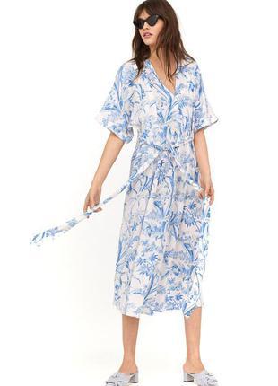 Платье кимоно вискоза макси h&m x namie amurо