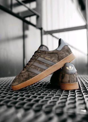 """Кроссовки мужские Adidas Gazelle """"Brown"""""""