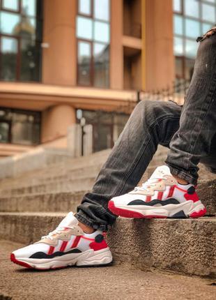 Кроссовки адидас, adidas ozweego white red black
