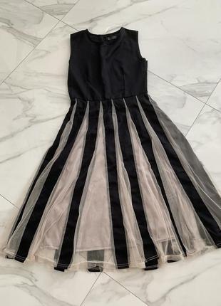 Платье миди , фатин , пышное