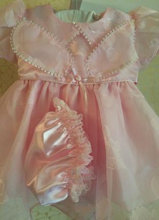 Новый нарядный комплект на малышку 12-18 месяцев