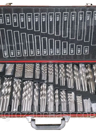 Набор сверл по металлу Intertool - 230 шт. (1-13 мм)